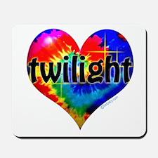 Twilight Tie-Dye Heart Mousepad