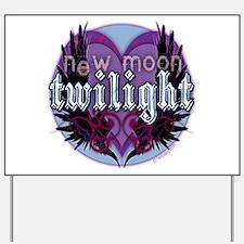 Twilight New Moon Winged Hearts Yard Sign
