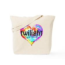 Twilight New Moon Peace Tie-Dye Tote Bag