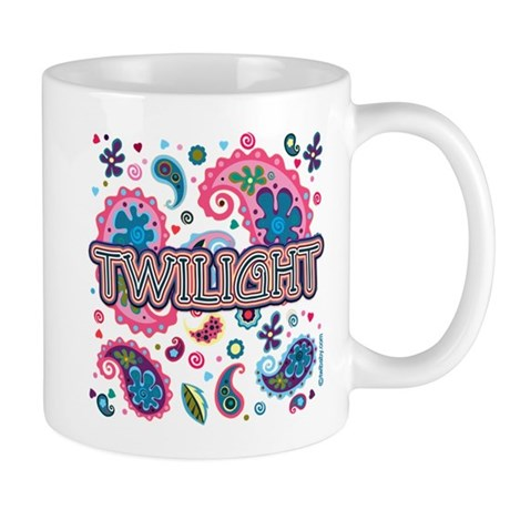 Twilight Retro Paisley Mug