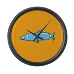 Fishstick Fish Large Wall Clock