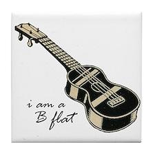 Funny Guitar gibson Tile Coaster
