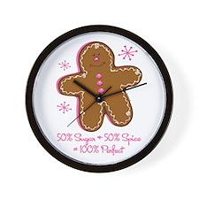 Sugar & Spice Gingerbread Wall Clock