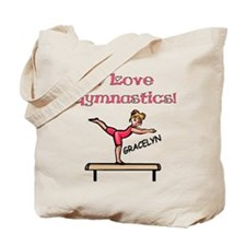 I Love Gymnastics (Gracelyn) Tote Bag