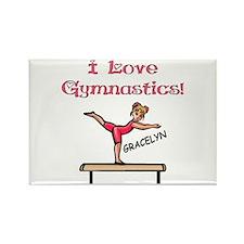 I Love Gymnastics (Gracelyn) Rectangle Magnet