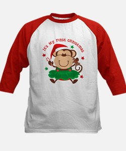 Monkey Girl 1st Christmas Tee