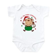 Monkey Boy 1st Christmas Infant Bodysuit