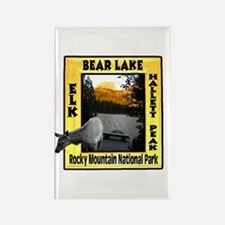 Bear Lake and Baby Elk Rectangle Magnet