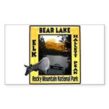 Bear Lake and Baby Elk Rectangle Decal