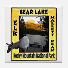 Bear Lake and Baby Elk Tile Coaster