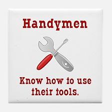 Handyman Funny Tile Coaster
