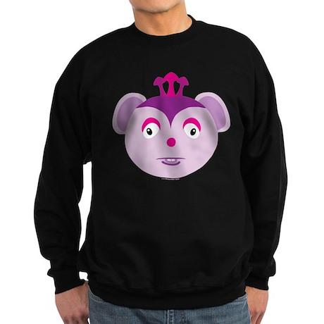 Three-Horned Purple Monster Sweatshirt (dark)