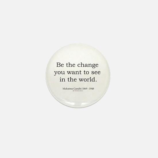 Mahatma Gandhi 5 Mini Button