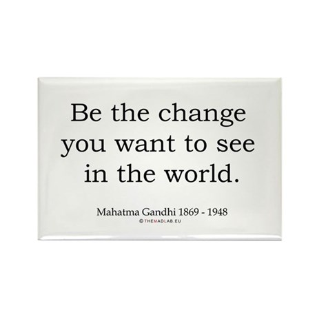 Mahatma Gandhi 5 Rectangle Magnet