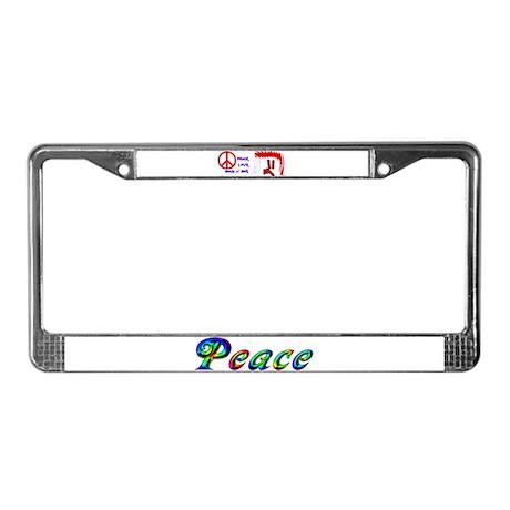 Hippie License Plate Frame