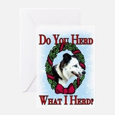 Christmas Collie Greeting Card