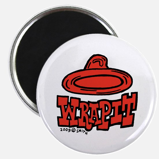 "Condom Wrap It (right) 2.25"" Magnet (10 pack)"