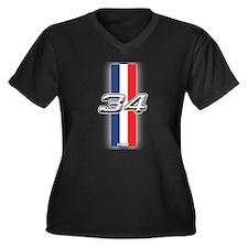 Cars 1934 Women's Plus Size V-Neck Dark T-Shirt