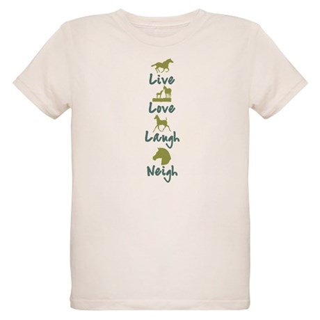 live, love, laugh, neigh Organic Kids T-Shirt