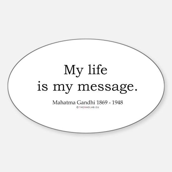 Mahatma Gandhi 7 Oval Decal
