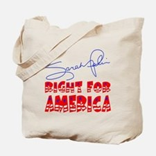 Sarah Palin Right For America Tote Bag