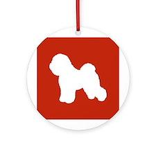Bichon Frise Ornament (Round)