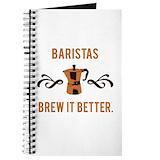 Occupation barista Journals & Spiral Notebooks