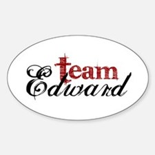 Team Edward Oval Decal