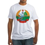 Laos Coat Of Arms Fitted T-Shirt