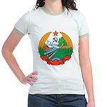 Laos Coat Of Arms Jr. Ringer T-Shirt