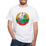 Laos Coat Of Arms White T-Shirt