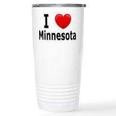 I Love Minnesota Travel Mug