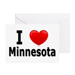 I Love Minnesota Greeting Cards (Pk of 20)