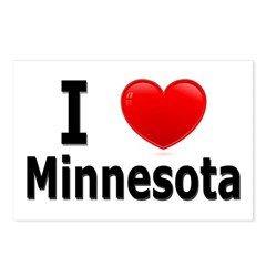 I Love Minnesota Postcards (Package of 8)