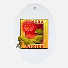 Cancun Oval Ornament