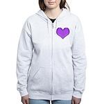 Purple Heart Women's Zip Hoodie