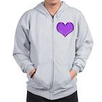 Purple Heart Zip Hoodie