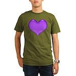 Purple Heart Organic Men's T-Shirt (dark)