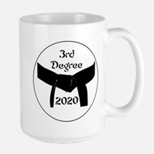 Martial Arts 3rd Degree Black Belt Large Mugs