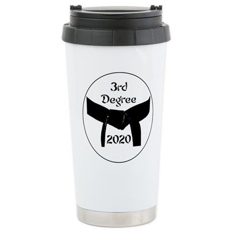 3rd Degree Black Belt Stainless Steel Travel Mug