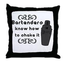 Bartenders Shake It Throw Pillow