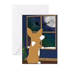 Watching for Santa Corgi Christmas Cards (10)