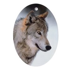 Photo Wolf Oval Ornament