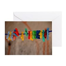 Hanging There Greeting Card