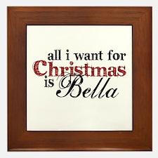 Bella for Christmas Framed Tile