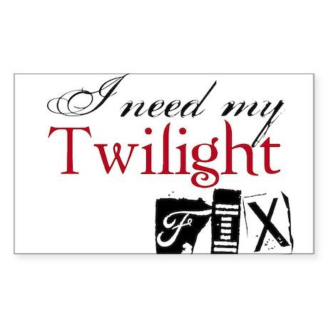 Twilight Fix Rectangle Sticker