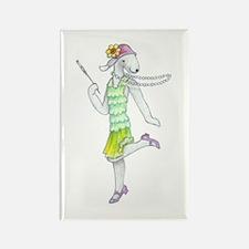 Dancing Bedlies-Flapper Rectangle Magnet