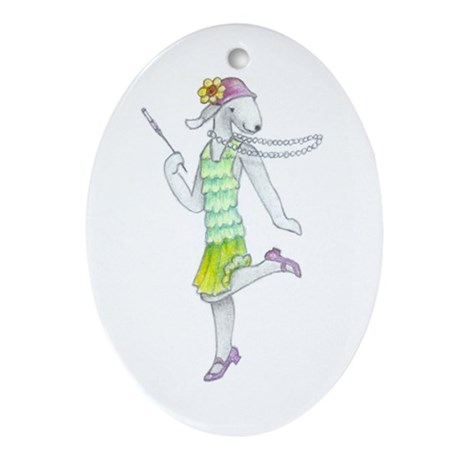 Dancing Bedlies-Flapper Oval Ornament