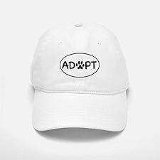 Adopt White Oval Baseball Baseball Cap