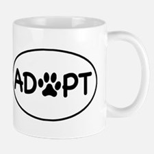 Adopt White Oval Mug